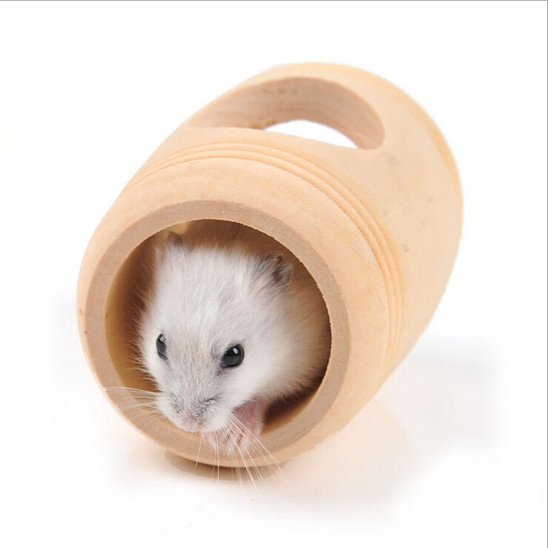 1PC New Arrive Hamster Small Animal Wooden Cages Bed Toy House Rat Hamsters Mouse Wooden Cage