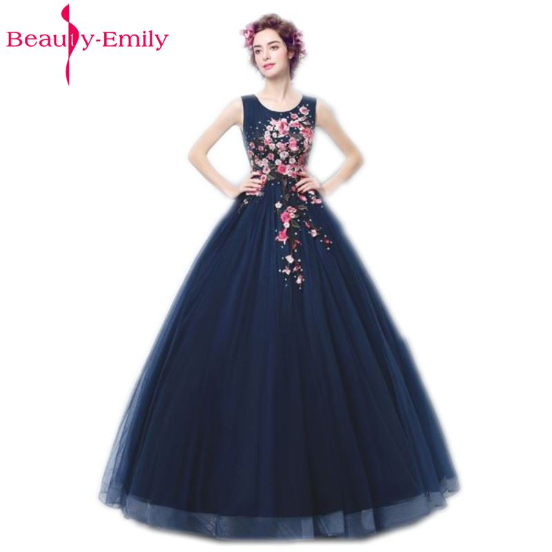 Beauty Emily Royal Blue Evening Dresses 2018 Tulle Women Formal Long ...