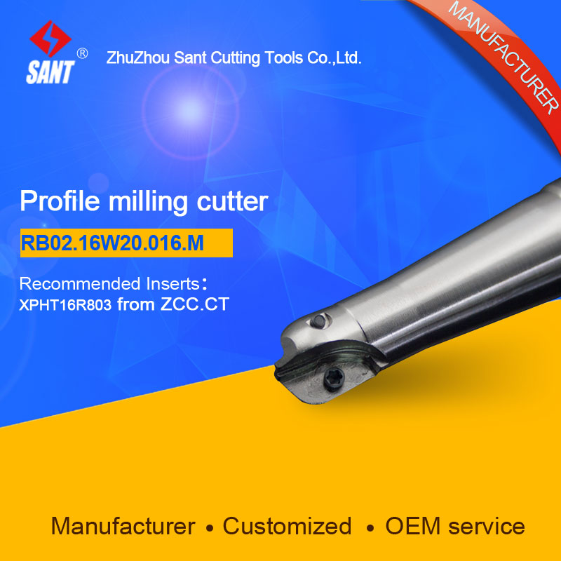 Suggested ZCCCT BMR03-016-XP20-M  Indexable Milling cutter SANT RB02.16W20.16.M with XPHT16R803 carbide insert for ZCC  цены