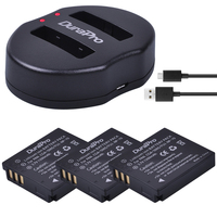 3pc CGA-S005 CGA S005 Battery +USB Dual Charger for PANASONIC DMW-BCC12 DMC-FX8 FX9 FX10 FX12 FX50 FX150 LX1 LX2 For Fuji NP-70