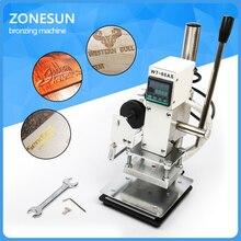 ZONESUN  Hand-held Leather Stamping Machine Wood Bronzing Machine Hot Foil Stamp LOGO Branding 500W 220V