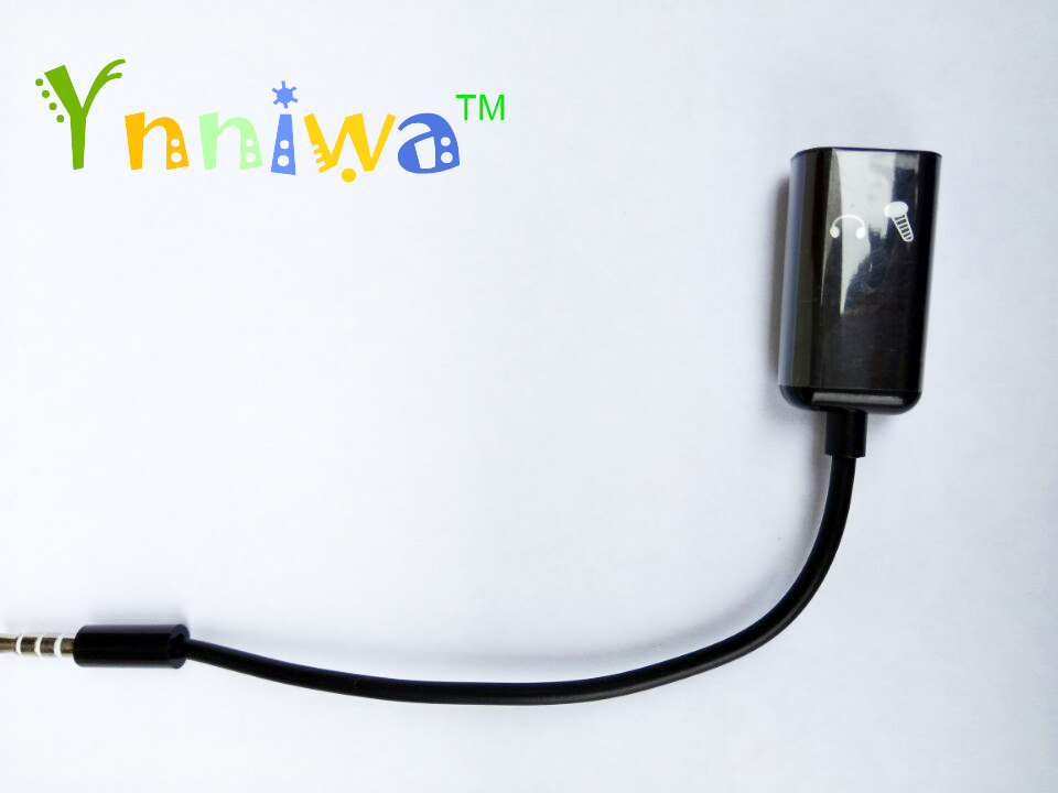 100pcs black 3 5mm Jack Male to Female Headphone Stereo Earphone Audio Splitter to Micrphone Adapter