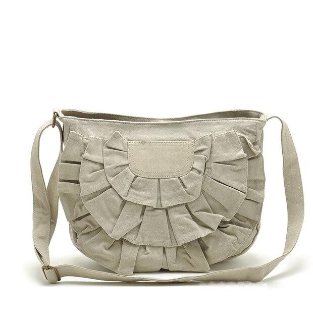 Womens Canvas Fl Messenger Bags Las Vintage Over Shoulder Brand Designer High Quality Sling Bag