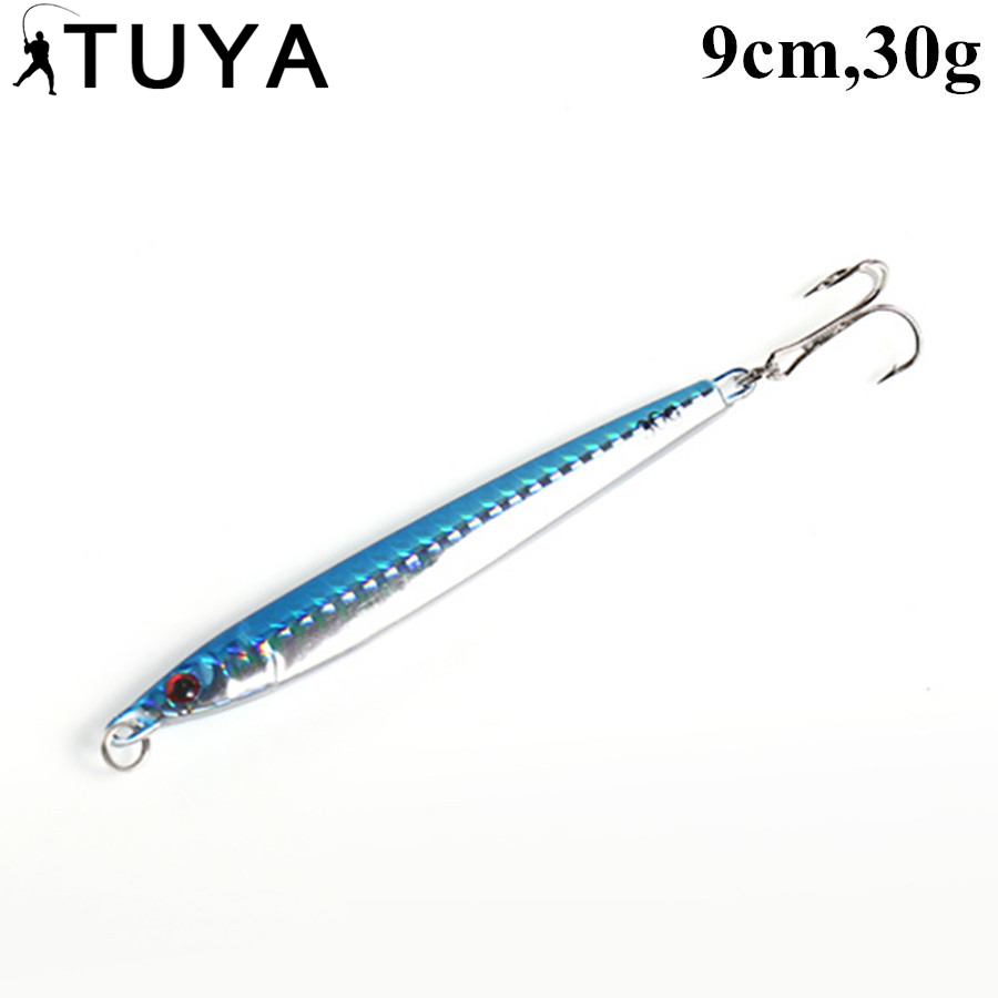 TUYA New Jigging Stick Fishing Lure Sinking Pencil Longcast 30g/90mm Shad Minnow 3D Eye Artificial Bait Bass Pike Lures 5# allblue slugger 65sp professional 3d shad fishing lure 65mm 6 5g suspend wobbler minnow 0 5 1 2m bass pike bait fishing tackle