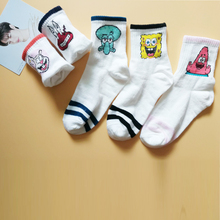 3pair Cartoon Character Cute Short Socks Women Harajuku for women art socks Hipster Skatebord Ankle Funny Female