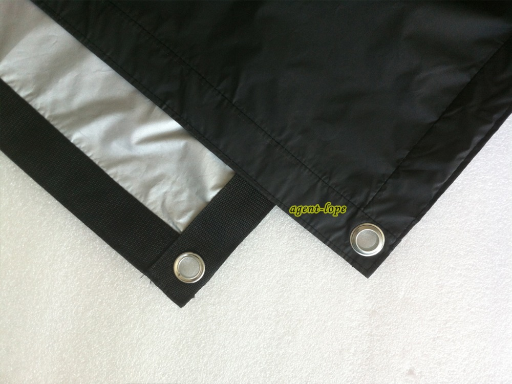 2 4x2 4m 8 x8 8x8 Black Grey double face Canvas Cloth light black out reflect