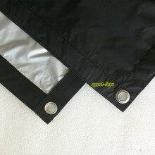 2,4x2,4 м 8'x8' 8x8 черный и серый двусторонний тканевый светильник из ткани с отражающей бабочкой