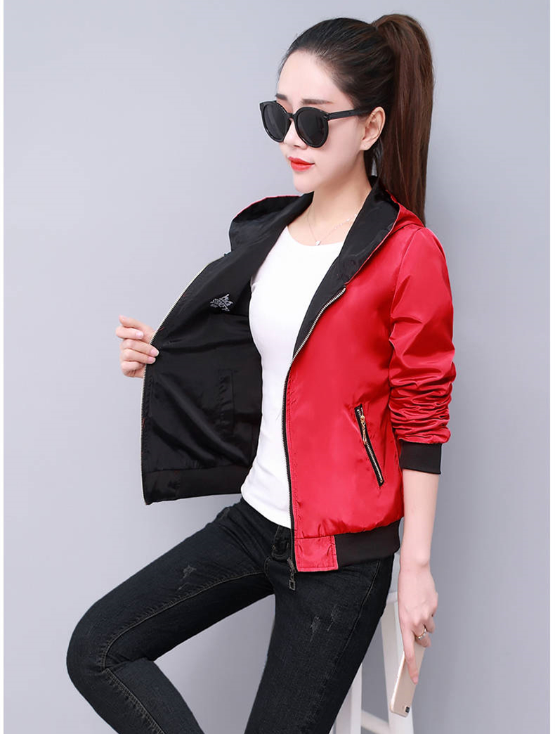HTB1M i XBOD3KVjSZFFq6An9pXaz Windbreak Jacket Women Long Sleeve Hooded Coats Spring Autumn Casual Solid Zip Up Basic Jackets for Women