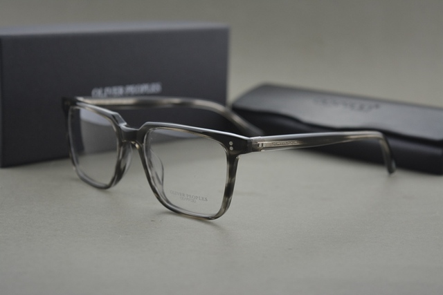 NOVA cor famosa Marca Povos Oliver NDG-1-P Quadrado Do Vintage Homens e Mulheres Óculos de Miopia Óculos de Armação Armações de óculos armação
