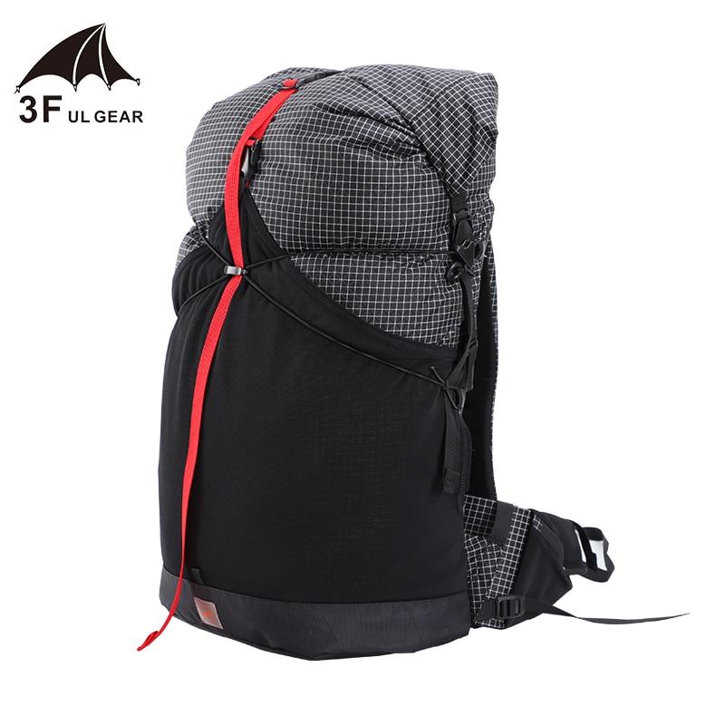 3F UL GEAR 35L léger Durable voyage Camping randonnée sac à dos extérieur ultra-léger sans cadre Packs XPAC & UHMWPE 3F UL GEAR - 3