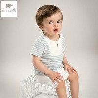 DB5110 dave bella summer baby boys clothing sets blue white stripes sets child sets infant clothes kids sets baby costumes