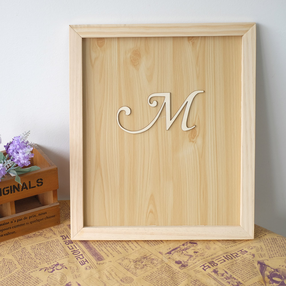 Personalized Wedding Guest book Frame with Letter Alternative Drop ...