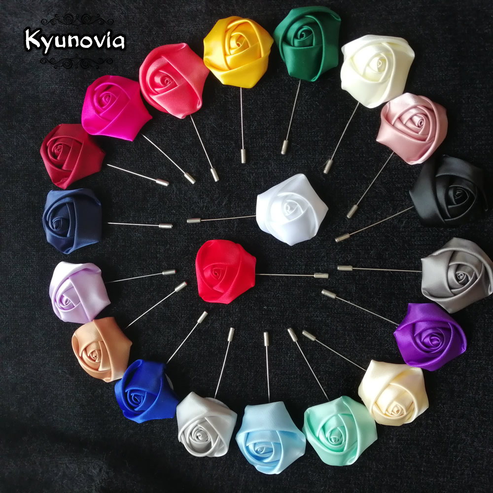 Kyunovia Brooch Buttonholes Ceremony Best Man Pin Groom Groomsmen Buttonhole Wedding Boutonniere Prom Suit Decoration D131