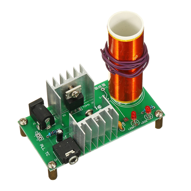 DIY Mini T esla Coil Module Unassembled 15W DC 15-24V 2A Plasma Speaker Electronic Kit