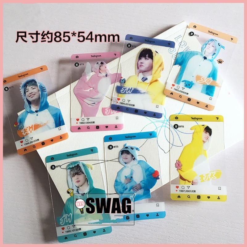 7Pcs/set Kpop BTS Muster PVC Transparent Cards Bangtan
