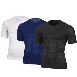 2020 Hot Men's Slimming Shaper Posture Vest Male Belly Abdomen Compression Body building Fat Burn Chest Tummy Shirt Corset(China)