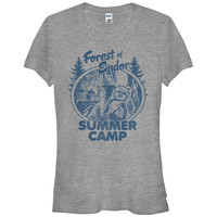 Women Flash Summer Short Sleeves T Shirt Star Wars Forest Of Endor Summer Camp Juniors Graphic