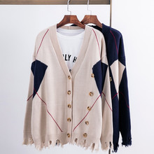 637407779e 2018 New Arrival Women Autumn Knitted Cardigan Sweaters Female Long Sleeve Navy  Blue Sweaters Tassel Button · 2 Colors Available