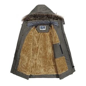 Image 2 - Yihuahoo 겨울 자켓 남자 5xl 6xl 코튼 패딩 따뜻한 파카 코트 캐주얼 가짜 모피 후드 양털 롱 남성 자켓 윈드 브레이커 남성