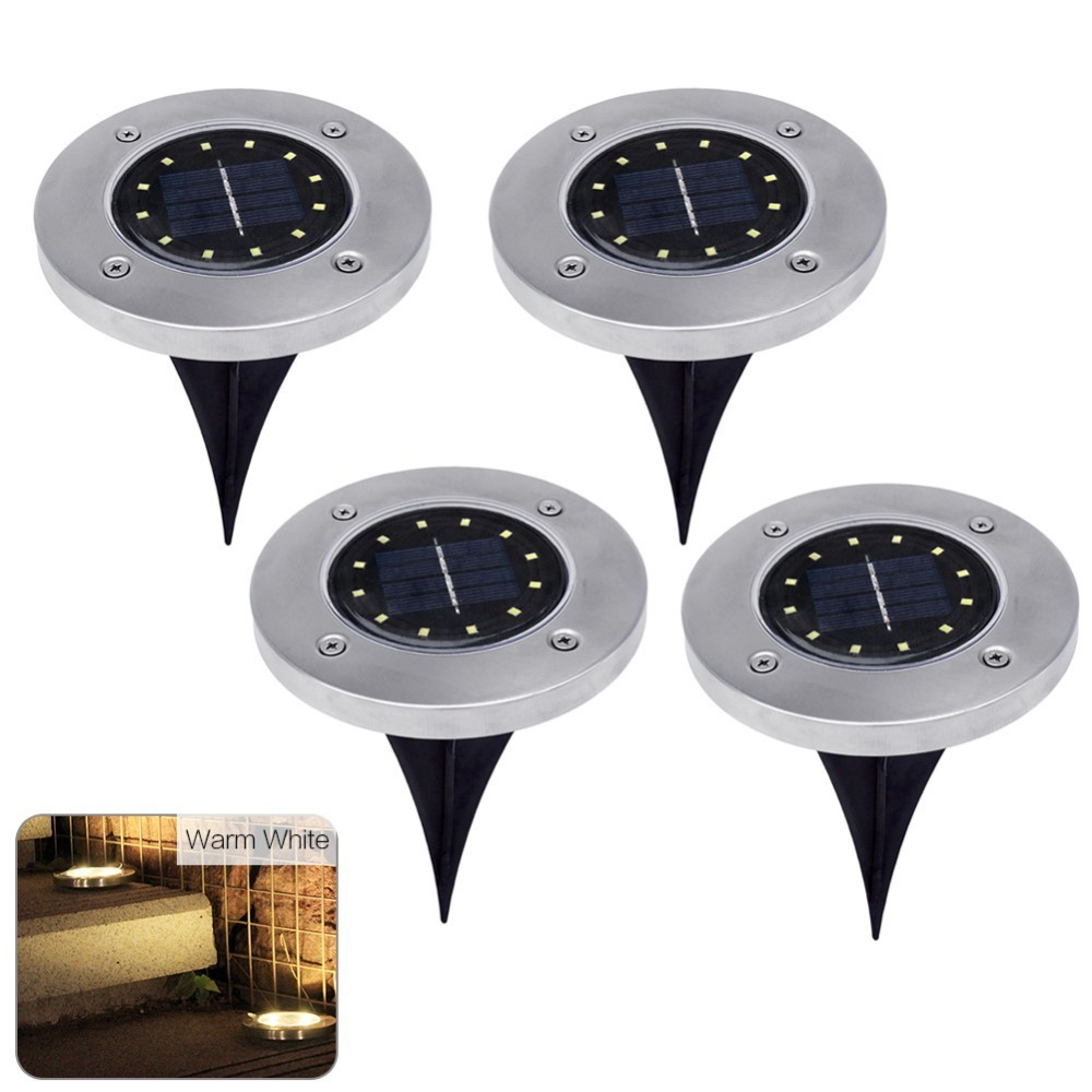 1pc 12 LED Light Solar Power Buried Light Ground Lamp Outdoor Garden Path Way Garden Decoration Light