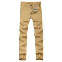 Slim Fit Casual Khaki Pants Men Lightweight Straight Fit Army Green Summer Long Pant For Men