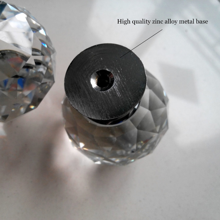 4pcs 30mm Diamond Crystal Glass Ball Alloy Door Drawer Cabinet Wardrobe Pull Handle Drop Furniture Knobs And Pulls For Cabinets