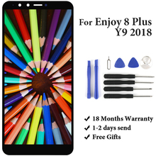 5.93 Pantalla For Huawei Y9 2018 LCD Display FLA-L22 FLA-LX2 FLA-AL00 FLA-LA10 Panel Enjoy 8 Plus Touch Screen