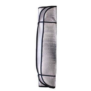 Image 3 - 2Pc Car Curtains Casual Foldable Car Windshield Visor Cover Front Rear Block Window Sun Shade Sunblind For Auto Car Accessories