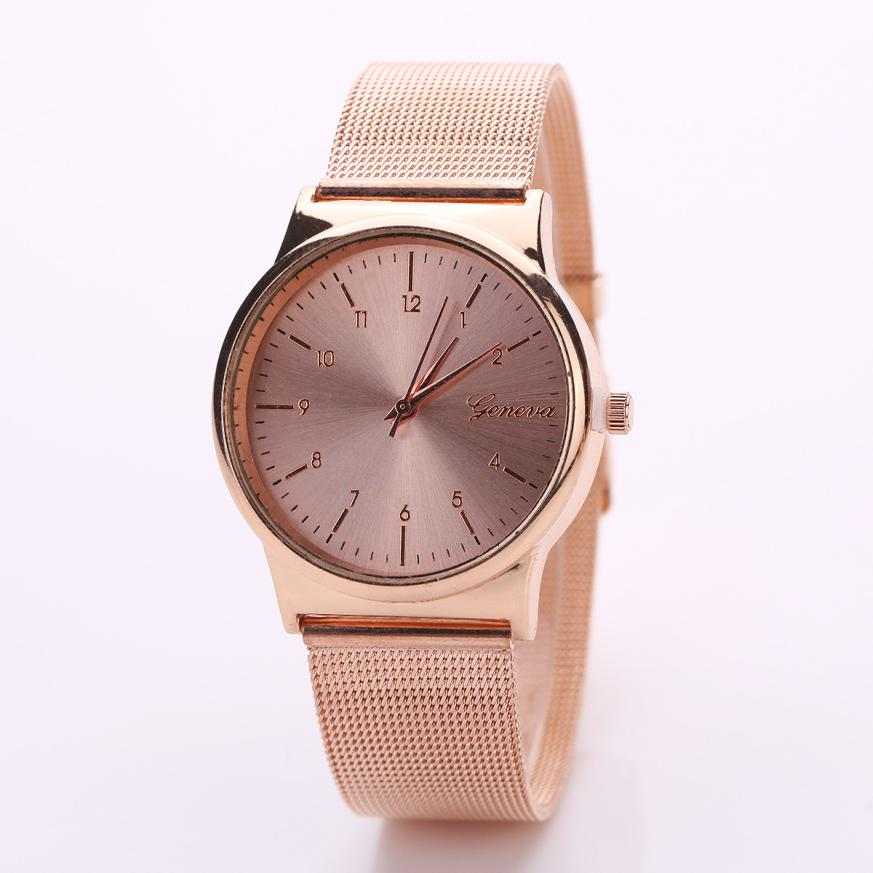 Women Watches 2017 Fashion Womens Classic Gold Quartz Stainless Steel Wrist Watch Dropshipping High Quality Dropshipping A24