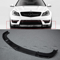 V Style Car Styling Carbon Fiber Front Lip Bumper Splitter for Mercedes Benz C Class W204 AMG C63 2 / 4 Door 2012 2014