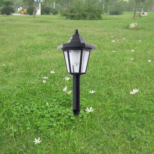 Xmas gift Solar Powered Hex LED Spot Light Landscape Garden Lawn Lamp