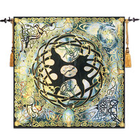 Modern Home Decoration Celtic Mythology Life Tree Tapestry Peace and Equilibrium Medieval Dobby Blanket mandala tapestries