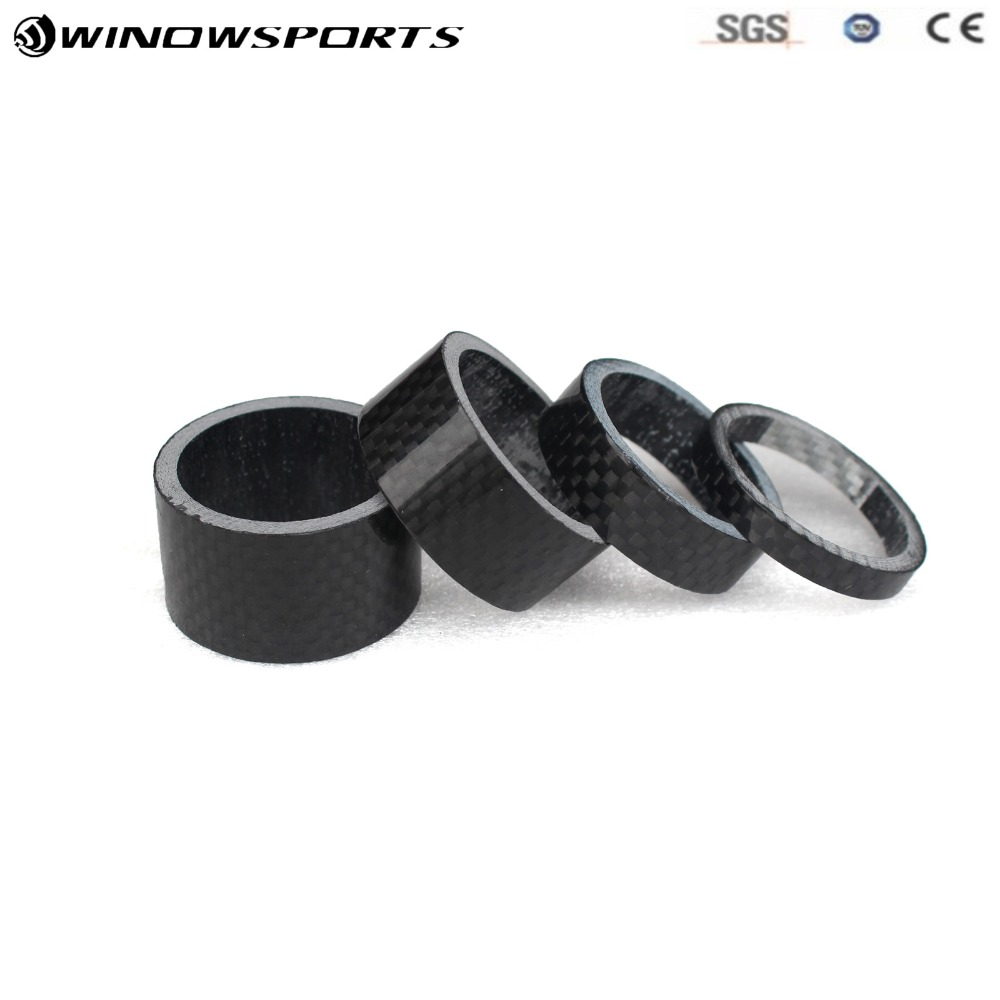 4pcs New 5+10+15+20mm bicycle full carbon fibre bike headsets spacer stem washer