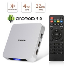 лучшая цена Leelbox AI ONE Android 9.0 4GB RAM 32GB ROM Smart TV Box RK3328 Quad Core Built in Bluetooth 4.0WIFI Set-top box Media Player