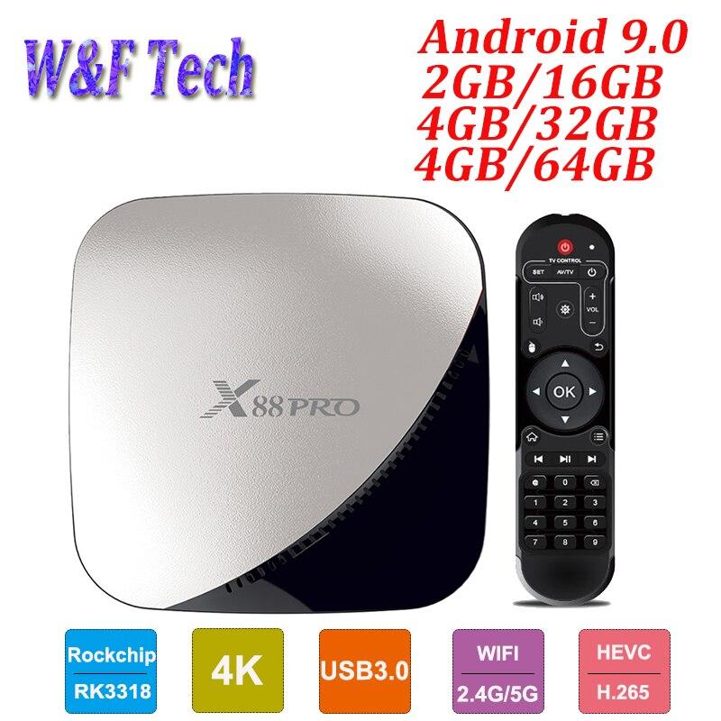X88 pro Android 9,0 Smart TV Box 4GB RAM 128GB Rockchip