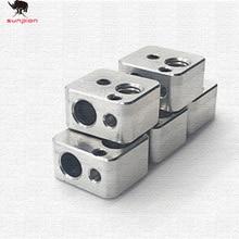 1pcs3d printer parts Premium Quality Aluminium V6 Heat Block For V5 J-head Extruder HotEnd Heater Hot End Heating Accessories