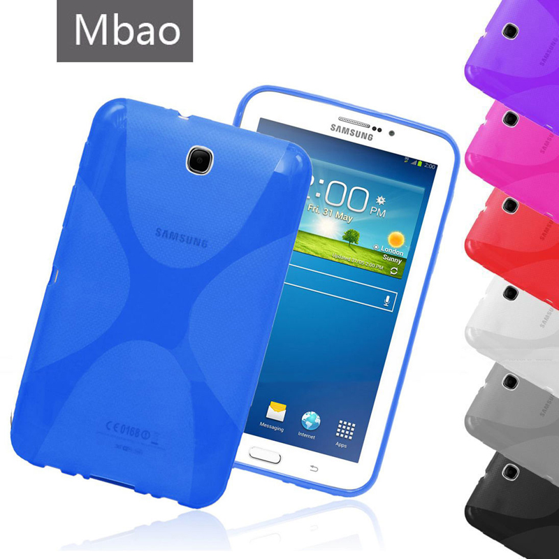 Quality X Line Soft TPU Case Anti Skid Semi Clear Gel Silicone Cover For Samsung Galaxy Tab 3 7.0 P3200 P3210 T210 T211 Tab3 7 t700 soft tpu rubber cover semi transparent back case for samsung galaxy tab s 8 4 t700 t705c silicone case