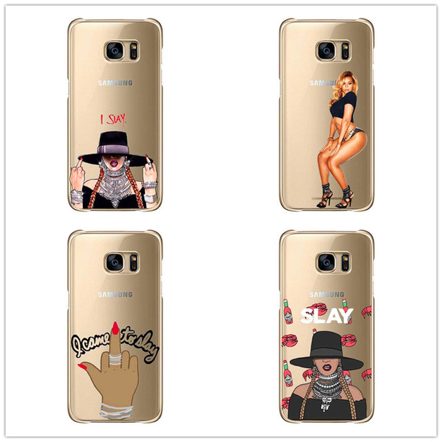 premium selection da884 3f116 US $2.99 |I Slay Beyonce Case Fundas For Samsung Galaxy S6 S7 Edge Note 8  S8 S9 S8PLUS soft silicone cover phone cases-in Phone Pouch from Cellphones  ...