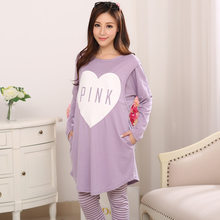 54068835b Long Sleeve Tops +pant Maternity Sets Service In The Summer Thin Milk Silk  Pajamas Nursing Home Service Maternity Suit
