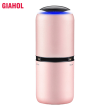 GIAHOL Car Air Purifier Cleaner Portable Mini air freshener Ionic Oxygen Bar Ozone Lonizer  Super Mute Pink