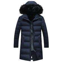 Новые мужские длинные толстые зимние пальто Модные Повседневные теплые-40 градусов парки куртки 0607-014