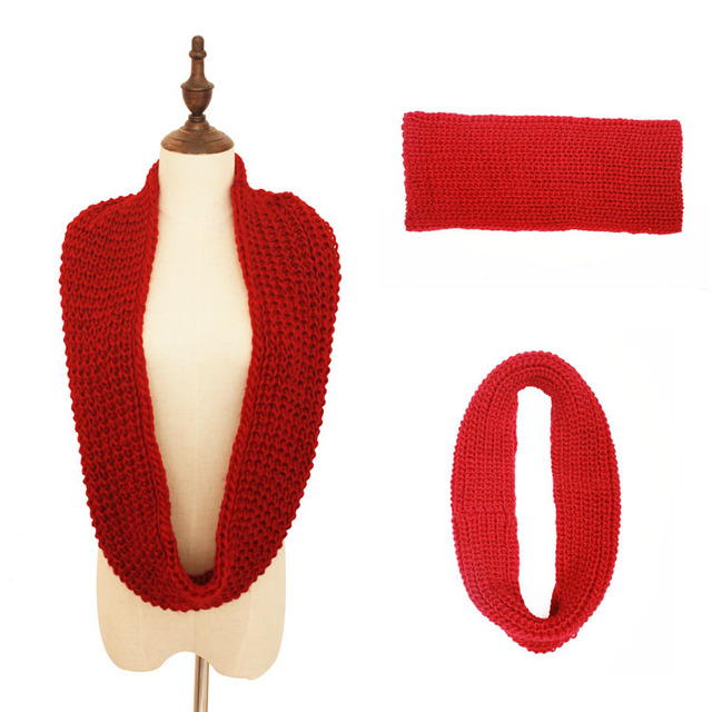 Unisex Warm Knitted Infinity Scarf
