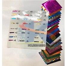 DIY переводная бумага горячего тиснения 24 лазерных цвета для 48 шт. бумаги(8X8 см) железа и ламинатора для горячей фольги бумаги