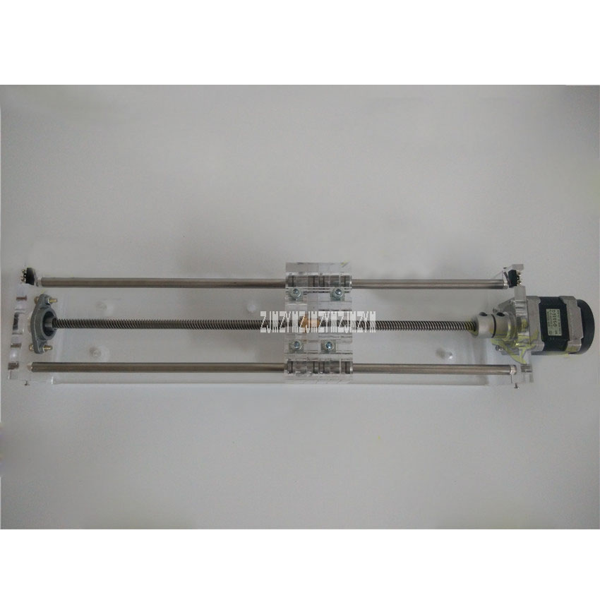 Acrylic (Transparent Type) 42 Stepper Motor Guide Slide T8 Screw Linear Bearing With Limit Effective Stroke 200MM + New MotorAcrylic (Transparent Type) 42 Stepper Motor Guide Slide T8 Screw Linear Bearing With Limit Effective Stroke 200MM + New Motor