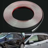 10M Chrome Car Body Door Edge Lip Protector Decor Moulding Trim Molding Strips