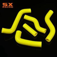 Желтые мотоциклетные водопровод силиконовый радиатор Хладагент петель растяжимый шланг для SUZUKI RMZ250 РМЗ 250 2007-2009 2007 2008 2009 для мотокросса