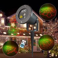 New 9 Big RG Patterns Stage Laser Lighting Projector DJ Xmas Party Home Dance IR Remote
