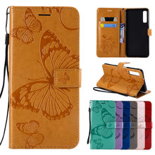 "FLYKYLIN A7 2018 Flip Leather Case For Samsung Galaxy A7 2018 A 7 A72018 6.0"" A750 Embossed Luxury Fashion Butterfly Phone Cover(China)"