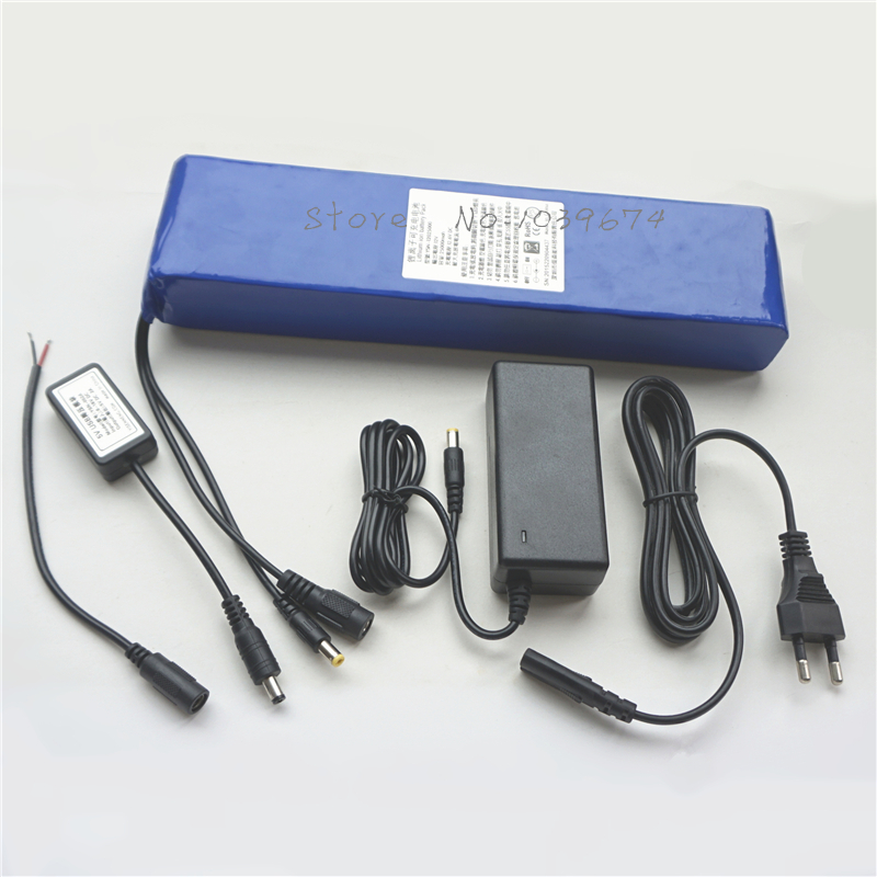 Batteries multifonctionnelles Li-ion 25000 MAH 12 V 25AH pour batterie externe avec chargeur gratuit et convertisseur USB Buck 5 V et connecteur bricolage