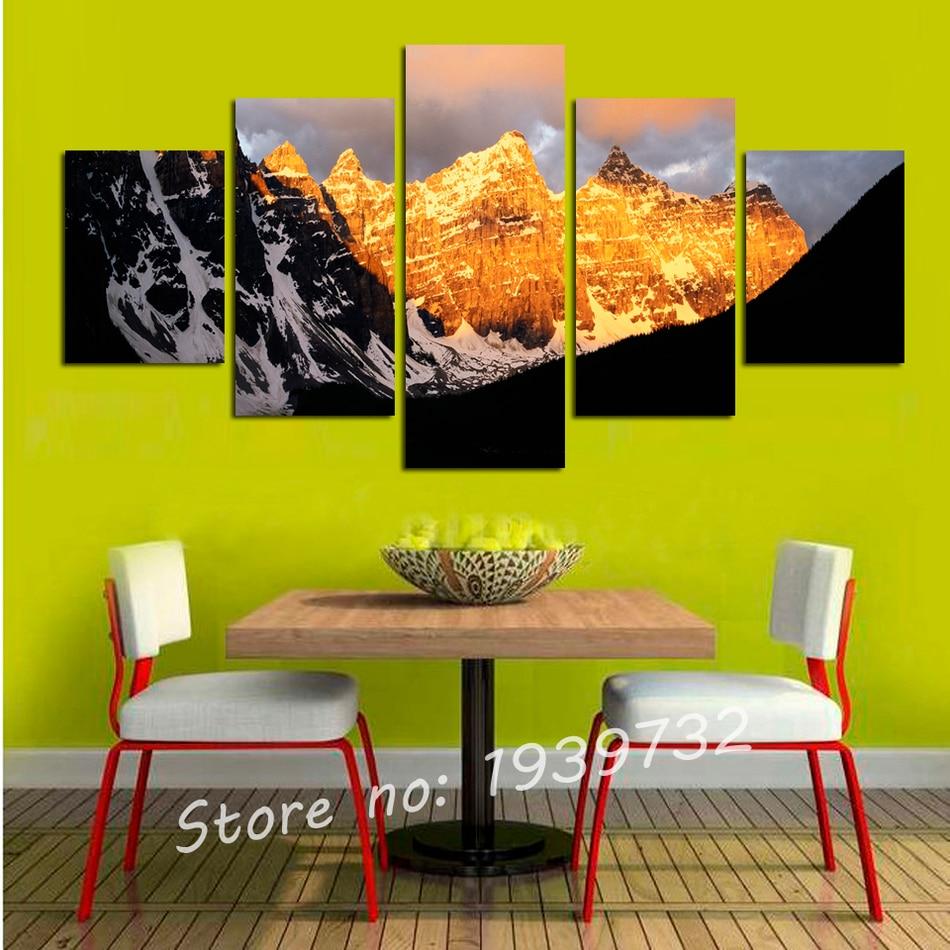Online kopen Wholesale mountain landschap schilderijen uit China ...